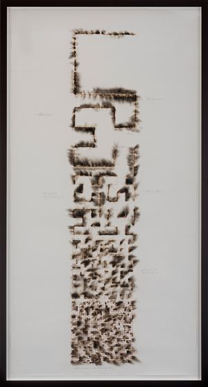 Wind Study (Hilbert Curve) by Jitish Kallat contemporary artwork