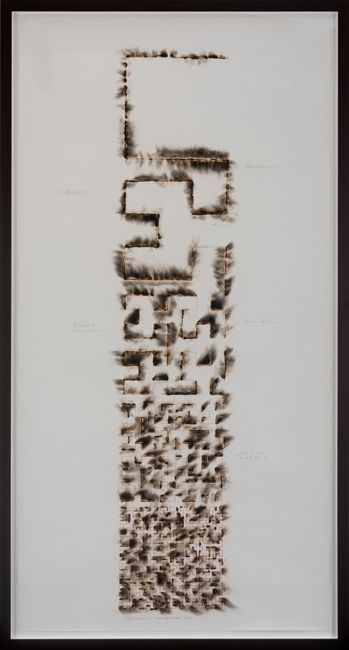 Wind Study (Hilbert Curve) by Jitish Kallat contemporary artwork