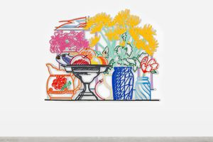Still Life with Fuji Chrysanthemums by Tom Wesselmann contemporary artwork