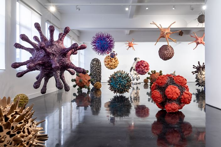 Exhibition view: Christopher Langton, Colony, Tolarno Galleries, Melbourne(14 August–21 September 2019). Courtesy Tolarno Galleries.