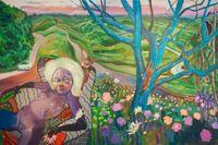 @Pleasure garden by Ndidi Emefiele contemporary artwork painting