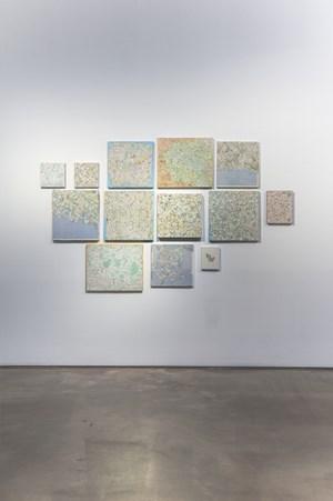 Carte du monde by Kim Soun-Gui contemporary artwork