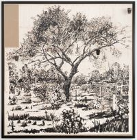 Dapple by William Kentridge contemporary artwork painting, works on paper, textile