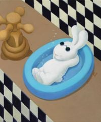 I'm all washed, soapy clean, so don't blame me by Benrei Huang contemporary artwork painting