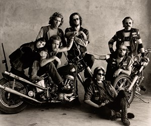 Hell's Angels, San Francisco by Irving Penn contemporary artwork