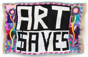 Untitled (Art Saves) by Paul Yore contemporary artwork