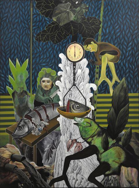 Big Catch by Rodel Tapaya contemporary artwork