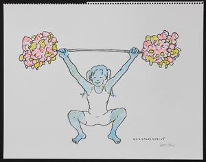 Moya-Moya Weightlifting by Okada Hiroko contemporary artwork