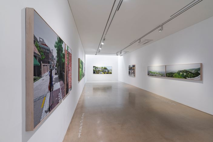Exhibition view: Honggoo Kang, Study of Green-Seoul-Vacant Lot, ONE AND J. Gallery, Seoul (May 1–31, 2020). Courtesy ONE AND J. Gallery.