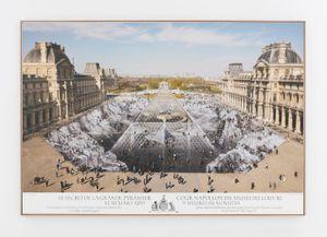 JR au Louvre et le Secret de la Grande Pyramide, 30 Mars 2019, 11H06 © Pyramide, architecte I. M. Pei, musée du Louvre, Paris, France by JR contemporary artwork