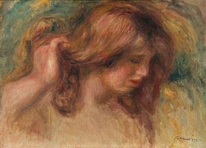 """Modèle à la main dans les cheveux - Etude pour """"La Source"""" by Pierre-Auguste Renoir contemporary artwork"""