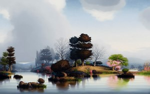 Out of the calmness of water by Alexander McKenzie contemporary artwork