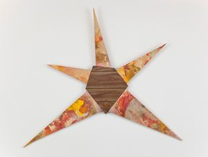 Untitled (Orange-yellow star) by Brenna Youngblood contemporary artwork
