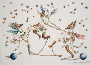 Three Graces by Raqib Shaw contemporary artwork