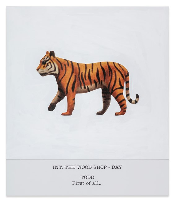 INT. THE WOOD SHOP - DAY TODD First of all... by John Baldessari contemporary artwork