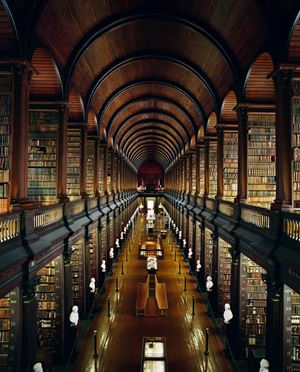 Trinity College Library, Dublin by Ahmet Ertug contemporary artwork