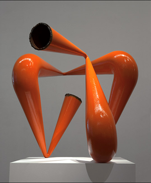 Orange Pipe Compression by James Angus contemporary artwork
