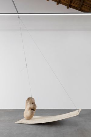 Self-weighing by Wang Lijun contemporary artwork