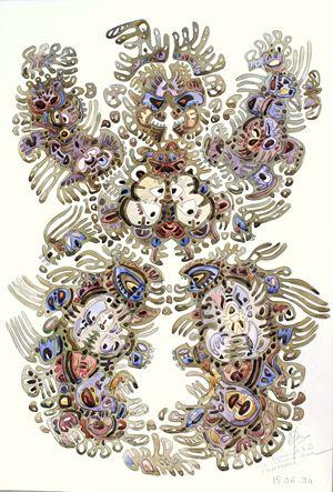 Shamanic Dance (Reincarnation) by Izmail Efimoy contemporary artwork