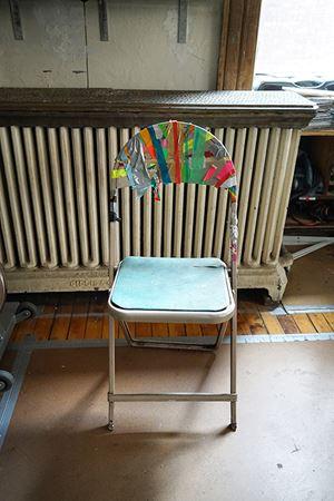 Saja's Chair by Juan Uslé contemporary artwork