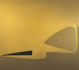 Half of a Pair of Yellow Scissors by Mao Xuhui contemporary artwork