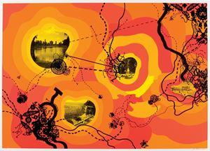 Peak Season, 2003 (For Parkett 68) by Franz Ackermann contemporary artwork