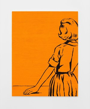 Woman Staring into Space by Farhad Moshiri contemporary artwork