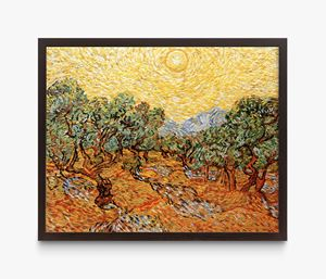 Pictures of Pigment: Olive Trees with Yellow Sky and Sun, After Van Gogh by Vik Muniz contemporary artwork