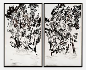 Trees of Miracle – Rorschach by Abdelkader Benchamma contemporary artwork