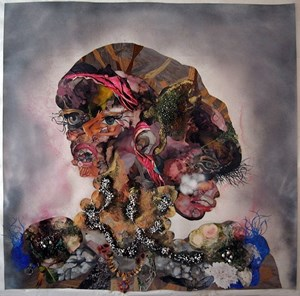 Madam Repeateat by Wangechi Mutu contemporary artwork