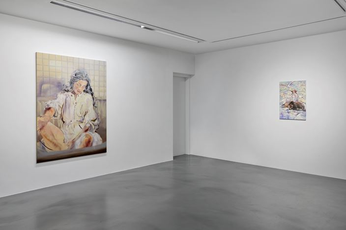 Exhibition view: Paulina Olowska, Destroyed Woman, Simon Lee Gallery, London (11 October–16 November 2019). Courtesy Simon Lee Gallery. Photo: Ben Westoby.