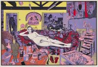 Reclining Artist by Grayson Perry contemporary artwork print