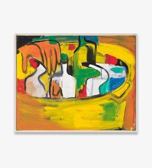 o.T. (Putzmittelflaschen im Eimer) by Karl Horst Hödicke contemporary artwork