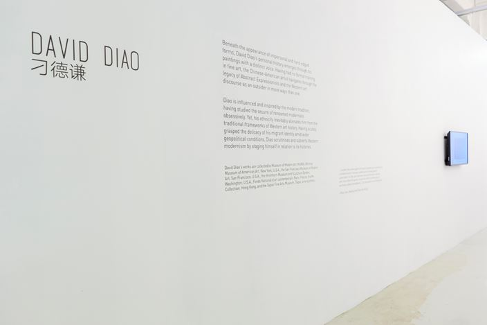 Exhibition view: David Diao, ShanghART, Singapore (22 January–28 February 2021). Courtesy ShanghART.