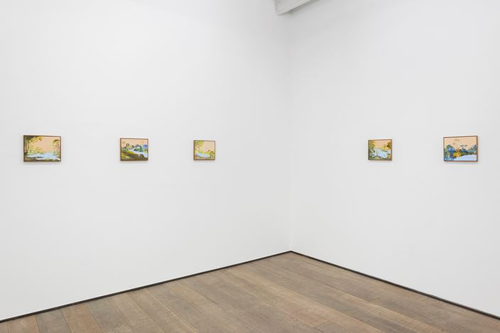 Exhibition view: Sanam Khatibi, The Murders of the Green River, rodolphe janssen (12 January–23 February 2019). Courtesy rodolphe janssen.