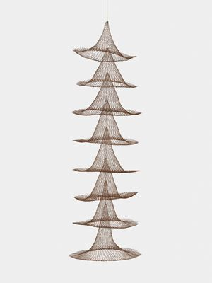 Untitled (S.030, Hanging Eight Separate Cones Suspended Through Their Centers) by Ruth Asawa contemporary artwork