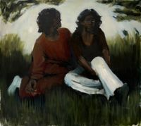 Embers for Crystals by Lynette Yiadom-Boakye contemporary artwork painting