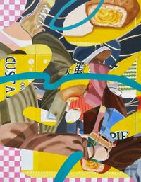 The altered storyline by Ziping Wang contemporary artwork painting, works on paper