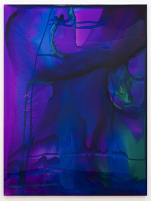 He could only sleep in stiff dirty soiled sodden bedsheets by Dale Frank contemporary artwork