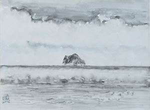 Keelung Islet with spring fog by Chuan-Chu Lin contemporary artwork