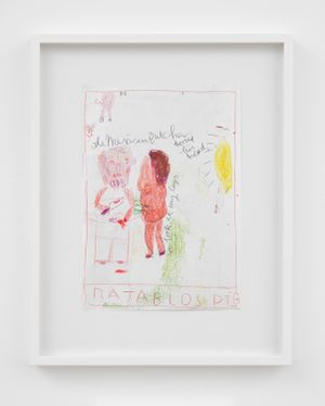 The Mexican Butcher (Mud) by Rose Wylie contemporary artwork