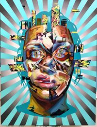 Mesmerised I by Justin Bower contemporary artwork painting, works on paper