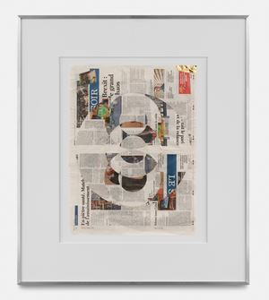 Blind Collage (Three 180° Rotations, Le Soir, Wednesday, September 4, 2019) by Walead Beshty contemporary artwork