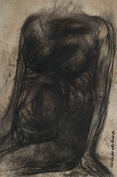 Jogen Chowdhury, Torso-I (Man) (1966). Pastel on craft paper. 98 x 65 cm / 38.5 x 25.5 in. CourtesyGalerie Mirchandani + Steinruecke.