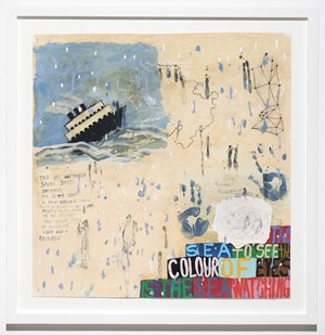Is the Sea Watching by Squeak Carnwath contemporary artwork