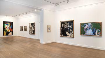Contemporary art exhibition, Pierre Alechinsky, Karel Appel, Travaux à deux pinceaux (1976–1978) at Galerie Lelong & Co. Paris, 13 Rue de Téhéran, Paris, France
