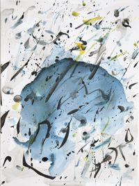 Landkarte des Schreib Feuers by Rebecca Horn contemporary artwork painting