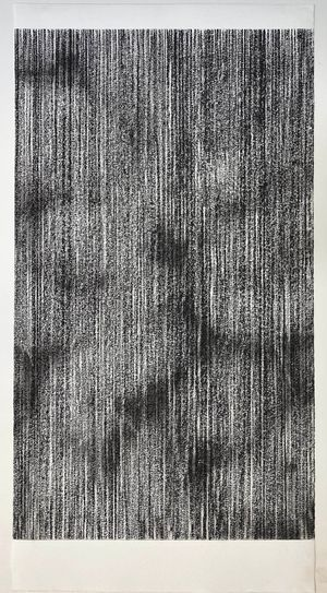 untitled charcoal I (inside out) by Sam Harrison contemporary artwork