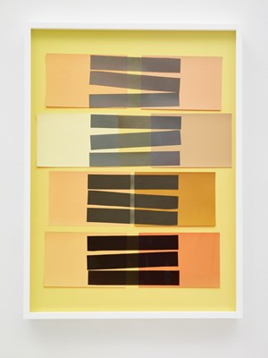 Handmade: Interaction of Color 24 (Rectangles, Black Stripes) by Vik Muniz contemporary artwork
