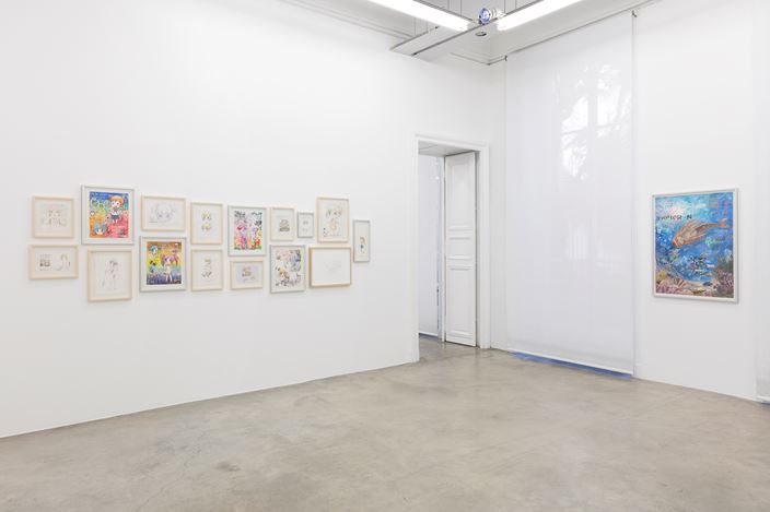 Exhibition view: Mr., Mr.'s Melancholy Walk Around the Town, Perrotin, Paris (19 January–9 March 2019). ©Mr./Kaikai Kiki Co., Ltd. All Rights Reserved. Courtesy the artist and Perrotin.Photo: Claire Dorn.